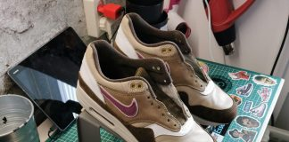 Atmos x Nike Air Max 1 Viotech soleswap