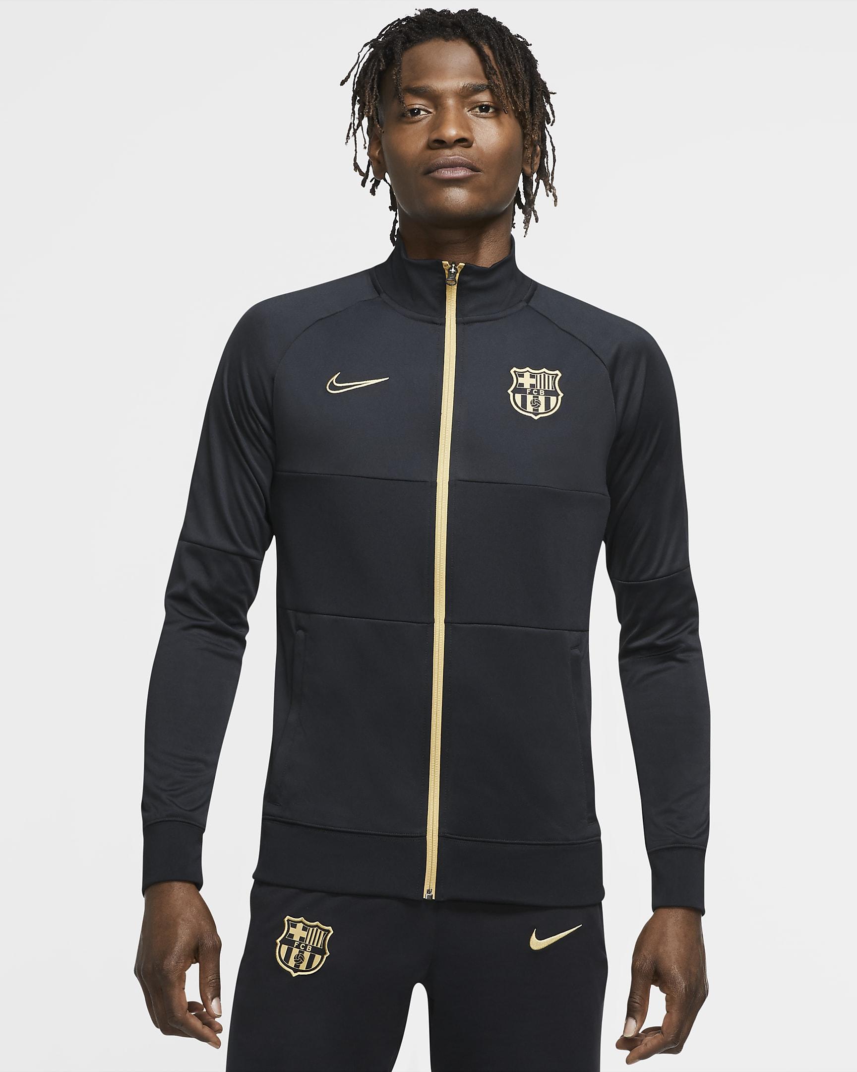 Voetbaltrainingsjack voor heren -FC Barcelona