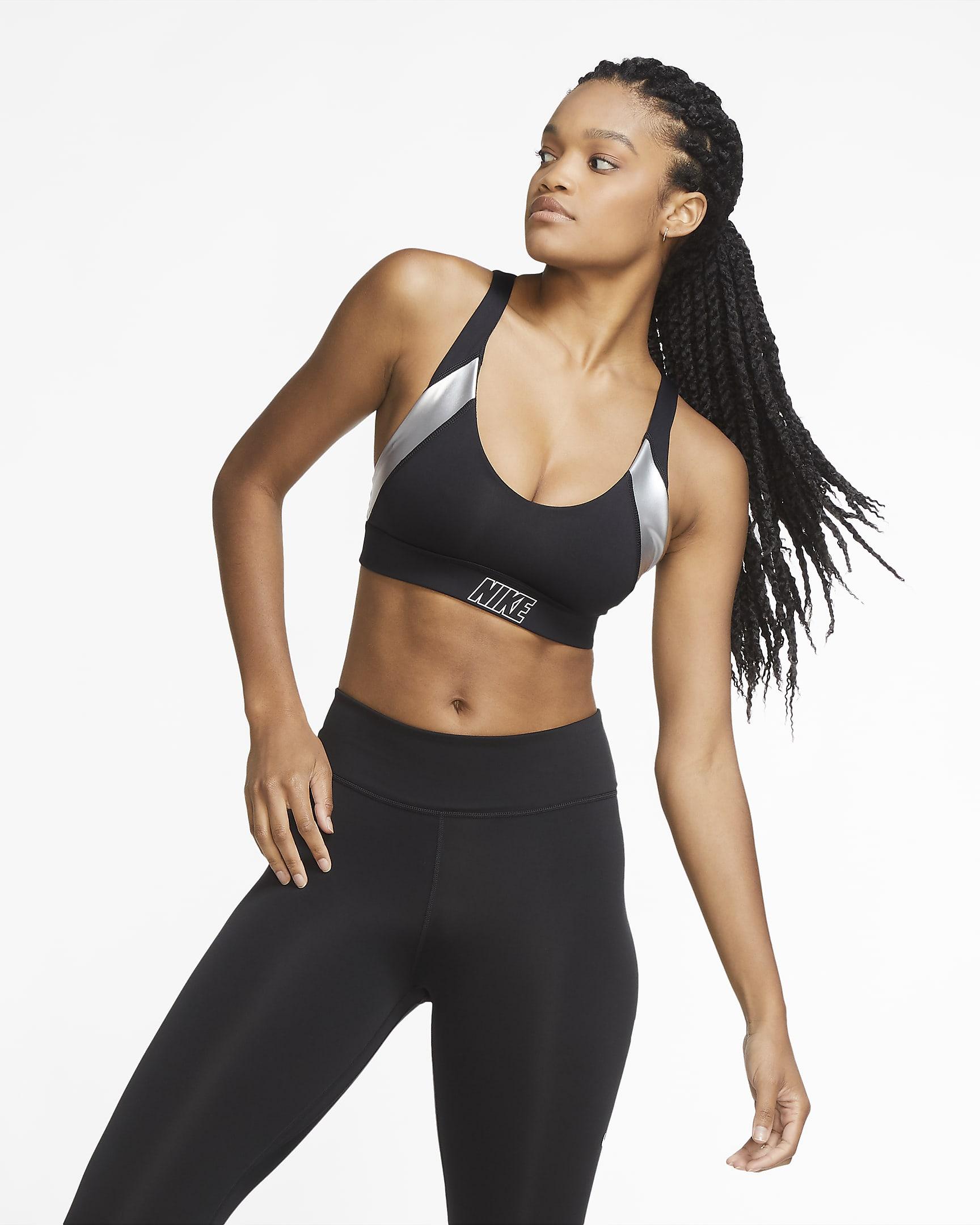 Metallic sport-bh met lichte ondersteuning -Nike Indy
