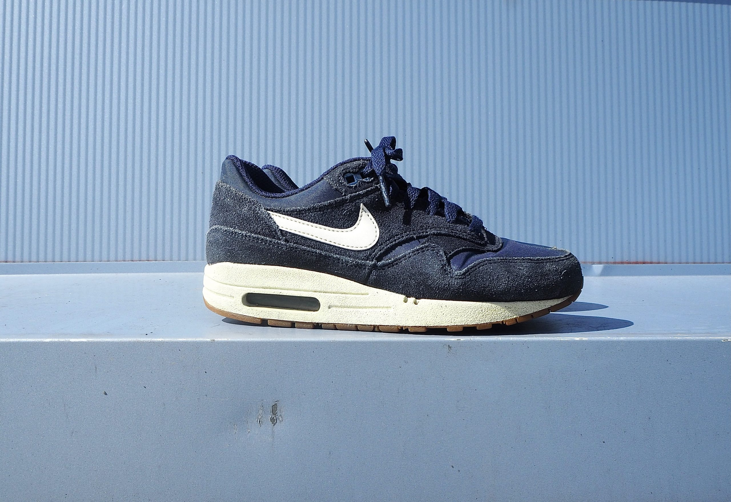 Nike Air Max 1 Blue Suede 'Midnight Navy'
