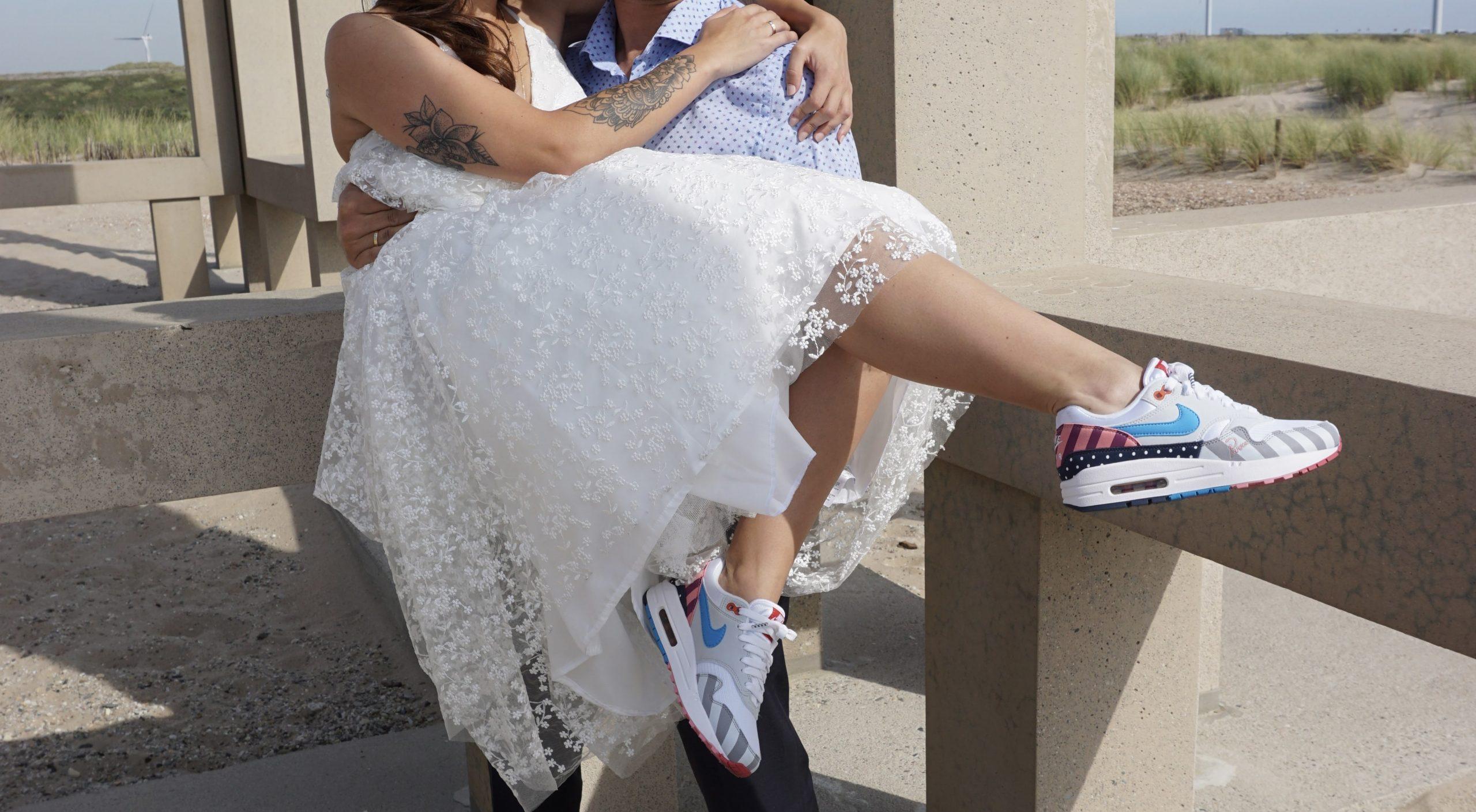 Trouwen op Nike Air Max