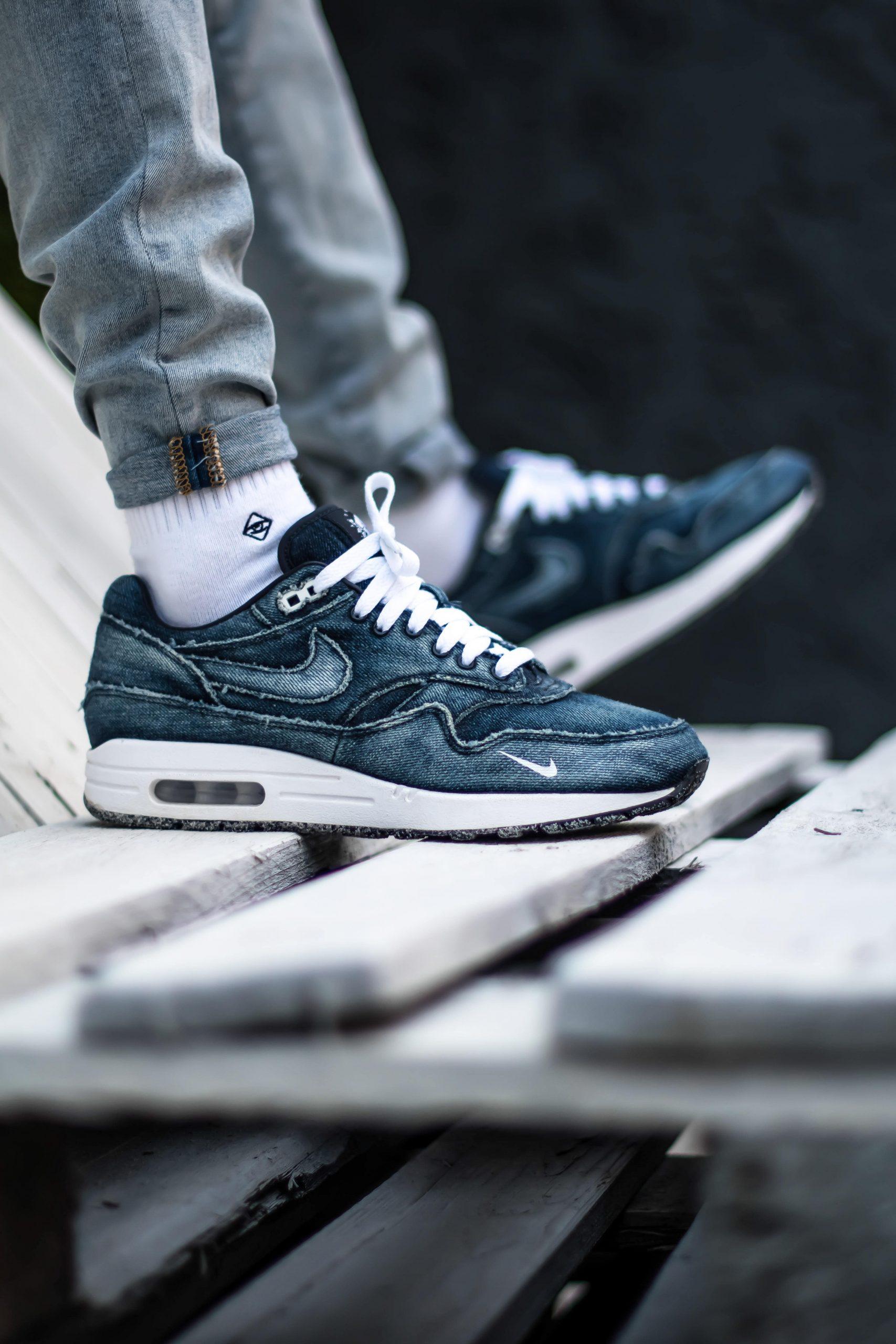 Nike Air Max 1 denim customs